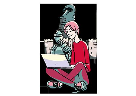 Künstlerische Darstellung Datenschutz